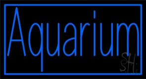 Blue Aquarium with Border Neon Sign
