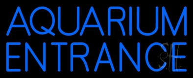 Blue Aquarium Entrance Neon Sign