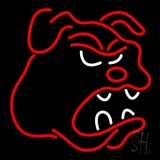 Bull Dog Logo Neon Sign