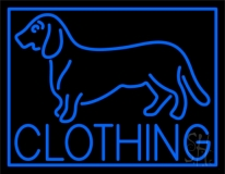 Blue Dog Clothing with Border Neon Sign