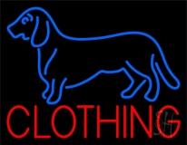 Dog Clothing Neon Sign