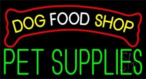 Dog Food Shop Green Pet Supplies Neon Sign