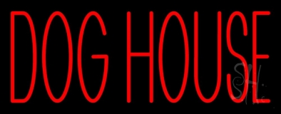 Dog House Block 1 Neon Sign