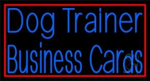 Dog Trainer 2 Neon Sign