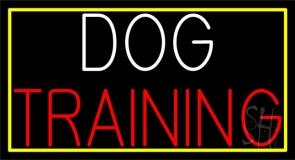 Dog Training Block 1 Neon Sign