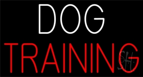 Dog Training Block 2 Neon Sign