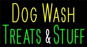 Dog Wash Treat And Stuff 2 Neon Sign