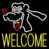 Dog Welcome 2 Neon Sign