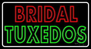 Double Stroke Bridal Tuxedos LED Neon Sign