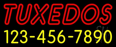 Double Stroke Tuxedos With Phone Numbers LED Neon Sign