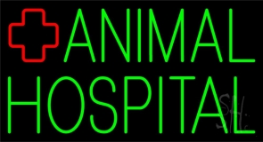 Green Animal Hospital Logo 2 Neon Sign