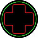 Hospital Plus Logo 2 Neon Sign