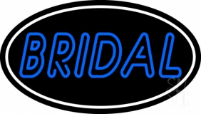 Oval Bridal Block Neon Sign