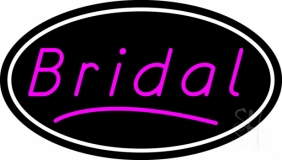 Oval Bridal In Pink Neon Sign