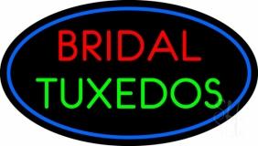 Oval Bridal Tuxedos Neon Sign