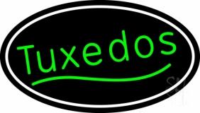 Oval Green Tuxedos Neon Sign