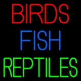 Birds Fish Reptiles 1 Neon Sign