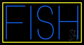 Block Fish Neon Sign