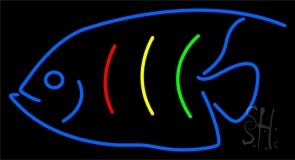 Blue Fish Logo Neon Sign