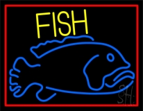 Blue Fish Neon Sign