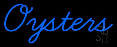 Blue Oysters Cursive Neon Sign