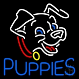 Blue Puppies Neon Sign