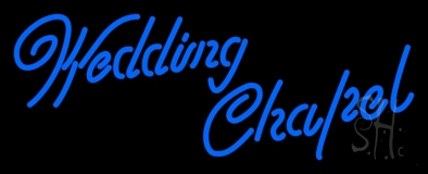 Blue Wedding Chapel LED Neon Sign