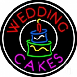 Circle Wedding Cakes Neon Sign