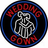 Circle Wedding Gown Logo Neon Sign