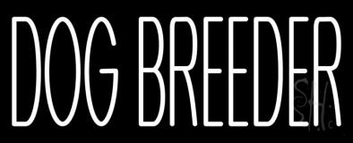 White Dog Breeder Neon Sign