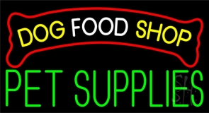 Dog Food Shop Pet Supplies LED Neon Sign