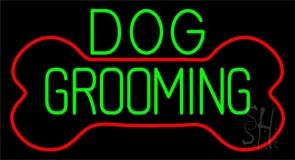 Green Dog Grooming Red Bone Neon Sign