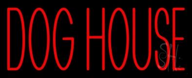 Dog House Block Neon Sign