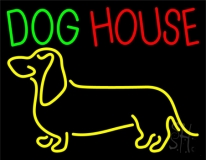 Dog House with Logo Neon Sign