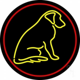 Dog With Logo 1 Neon Sign