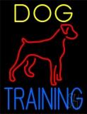 Dog Training Green Border Neon Sign