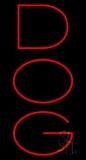 Dog Vertical Neon Sign
