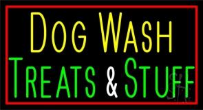 Dog Wash Treat And Stuff Neon Sign