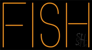 Fish Block Neon Sign