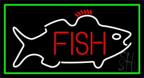 Fish Center Logo Neon Sign