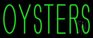 Green Oyster Block LED Neon Sign