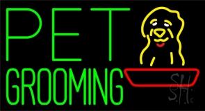 Green Pet Grooming Block 1 Neon Sign