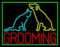 Grooming Logo Neon Sign