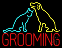 Grooming Logo 1 Neon Sign
