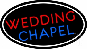 Oval Wedding Chapel Block Neon Sign