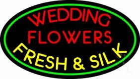 Oval Wedding Flowers Neon Sign