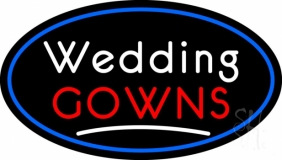 Oval Wedding Gowns Neon Sign