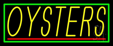 Oysters Block Neon Sign