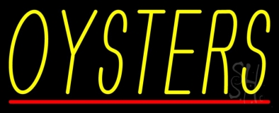 Oysters Block 1 Neon Sign