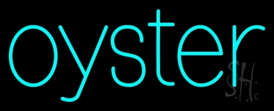 Oysters Turquoise LED Neon Sign